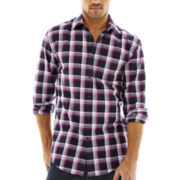 JF J. Ferrar® Long-Sleeve Window Plaid Shirt