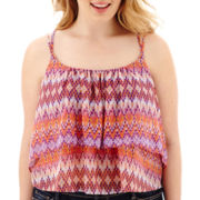 Arizona Ruffle Crop Cami - Plus