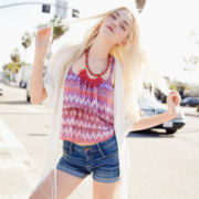 Arizona Fringe Kimono Cardigan, Ruffle-Crop Cami or Roll-Cuff Jean Shorts