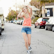 Arizona Fringe Pocket Tank Top, Bandeau Top or High-Rise Raw-Cuff Shorts