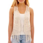 Arizona Crochet Fringe-Trim Vest