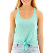 Arizona Tie-Front Crochet-Back Tank Top