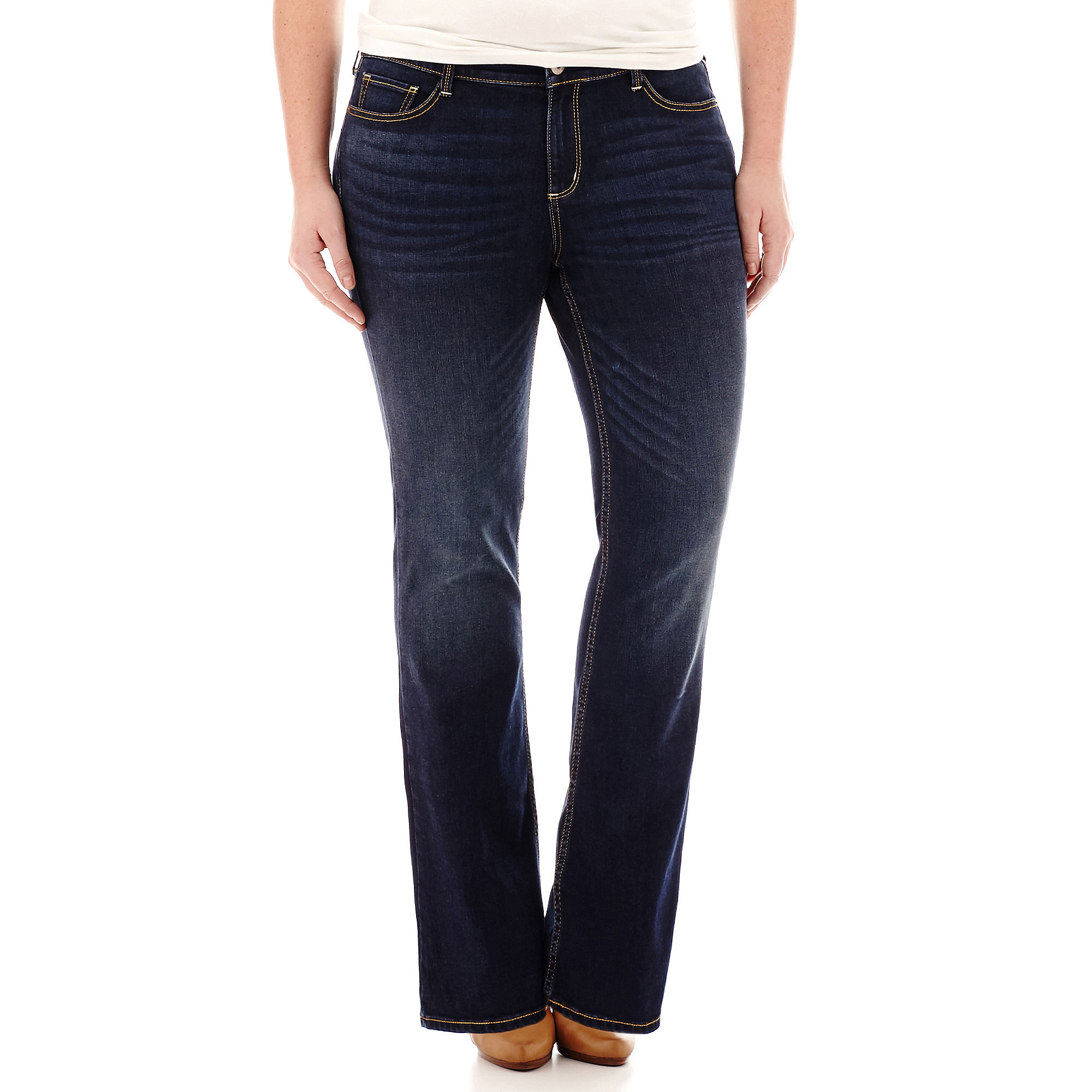 Arizona Bootcut Jeans-Juniors Plus plus size,  plus size fashion plus size appare