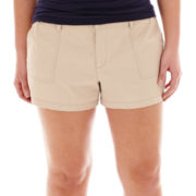 Arizona Bedford Cord Shorts- Juniors Plus