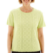 Alfred Dunner® Morocco Short-Sleeve Sweater Shell Top - Petite