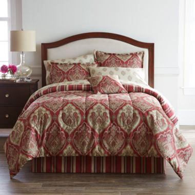 jcpenney.com | Home Expressions™ Chandler Damask Complete Bedding Set with Sheets Collection