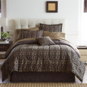 Home Expressions™ Safari Leopard Complete Bedding Set with Sheets