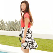 Worthington® Twist-Neck Knit Top or Print Skirt - Petite