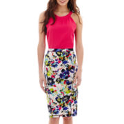 nicole by Nicole Miller® Textured Halter-Neck Tank Top or Print Pencil Skirt