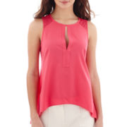nicole by Nicole Miller® Sleeveless Lace-Trim Top