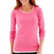 Made For Life™ Long-Sleeve Layered Scoopneck Sweatshirt