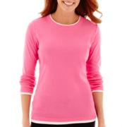 Made For Life™ Long-Sleeve Layered Crewneck T-Shirt