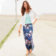 Stylus™ Denim Jacket, V-Neck Slub T-Shirt or a.n.a® Side-Slit Maxi Skirt