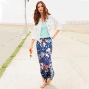 Stylus™ Denim Jacket, V-Neck Slub T-Shirt or a.n.a® Side-Slit Maxi Skirt