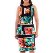 Bisou Bisou® Racer-Back Print Top or Split-Back Print Pencil Skirt