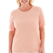 Alfred Dunner® Short-Sleeve Textured Sweater Shell - Plus