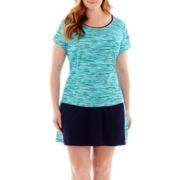 Made For Life™ Print Mesh T-Shirt or Skort - Plus