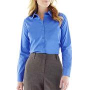 Worthington® Long-Sleeve Button-Front Shirt