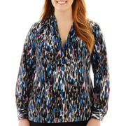 Worthington® Long-Sleeve Tunic Top - Plus