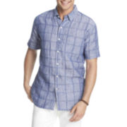 IZOD® Short-Sleeve Linen-Cotton Shirt