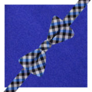 JF J. Ferrar® Pavia Gingham Pre-Tied Bow Tie & Pocket Square Set