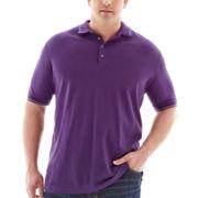 Claiborne® Short-Sleeve Stretch Piqué Polo–Big & Tall