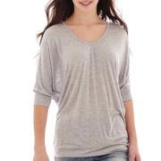 i jeans by Buffalo 3/4-Sleeve Crochet-Back Top