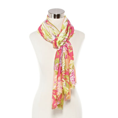jcpenney.com | Studio 36 Tropical Floral Garden Scarf