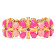 Liz Claiborne® Pink and Orange Gold-Tone Stretch Bracelet