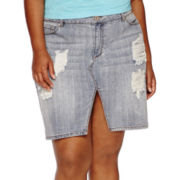 Decree® Denim Skirt - Juniors Plus