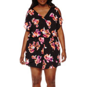 Decree® Cold-Shoulder Romper - Plus