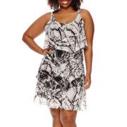 Robbie Bee® Sleeveless 5-Tier Sheath Dress