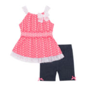 Little Lass® 2-pc. Dress and Leggings Set - Baby Girls 3m-24m