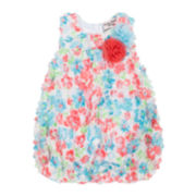 Little Lass® Sleeveless Floral Sunsuit - Baby Girls 3m-18m