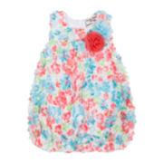 Little Lass® Sleeveless Floral Sunsuit - Baby Girls 3m-18m