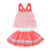 Little Lass® 2-pc. Tank Top and Skirt Set - Baby Girls 3m-24m