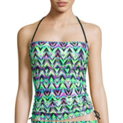 Arizona Ziggy Extravaganza Bandeaukini Swim Top - Juniors