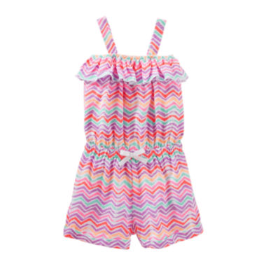 jcpenney.com | OshKosh B'gosh® Sleeveless Print Cotton Romper - Preschool Girls 4-6x