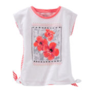 OshKosh B'gosh® Short-Sleeve Side-Tie Tee - Preschool Girls 4-6x