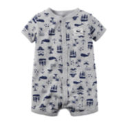 Carter's® Short-Sleeve Whale Romper - Baby Boys newborn-24m