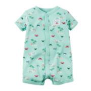 Carter's® Short-Sleeve Palm Tree Romper - Baby Boys newborn-24m