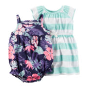 Carter's® 2-pc. Sleeveless Floral Dress and Romper Set - Baby Girls newborn-24m
