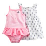 Carter's® 2-pc. Sleeveless Striped Dress and Romper Set - Baby Girls newborn-24m