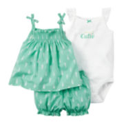 Carter's® 3-pc. Bodysuit and Diaper Cover Set - Baby Girls newborn-24m