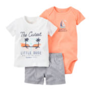 Carter's® 3-pc. Little Dude Set - Baby Boys newborn-24m