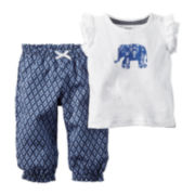 Carter's® 2-pc. Flutter-Sleeve Top and Pants Set - Baby Girls newborn-24m