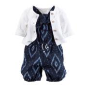 Carter's® 2-pc. Sleeveless Romper and Cardigan Set - Baby Girls newborn-24m