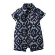 Carter's® Ikat Print Romper - Baby Boys newborn-24m