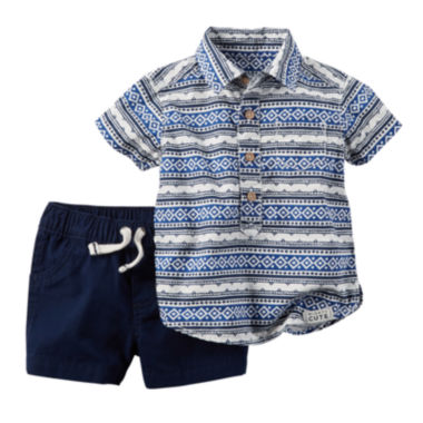 jcpenney.com | Carter's® Shirt and Shorts Set - Baby Boys newborn-24m