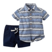 Carter's® Shirt and Shorts Set - Baby Boys newborn-24m